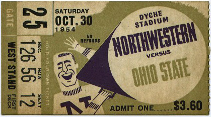 Ticket_1954_Northwestern
